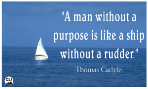 Man without purpose Quote