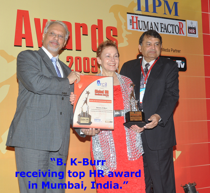 receiving top HR award in